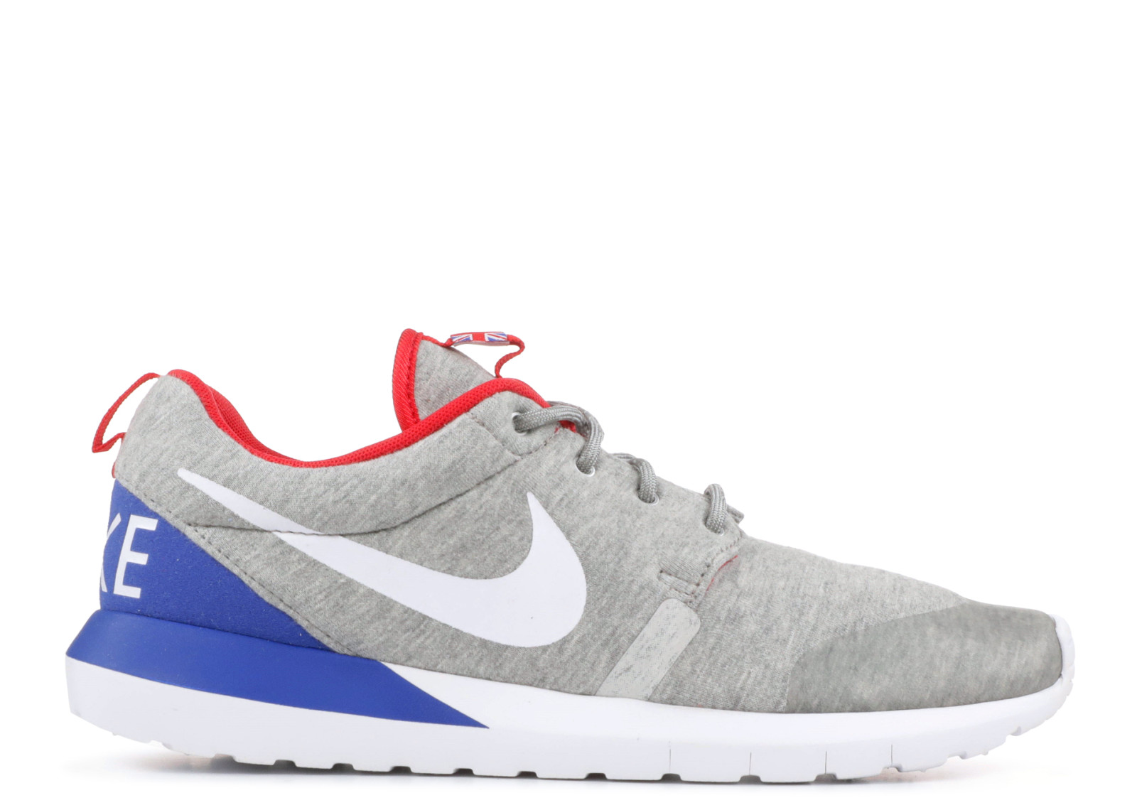 8f4697634b3a4 Roshe Run Nm W Sp Great Britain Heather Grey University White Red ...