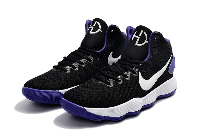bf47e22438ec Nike Hyperdunk 2017 EP Black White Purple Men Basketball Shoes - Febbuy