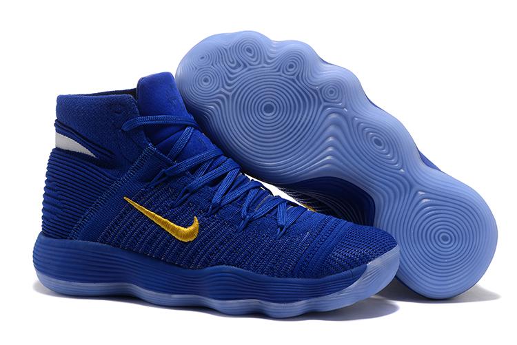 0914cbb28e89 Nike Hyperdunk 2017 Men Basketball Shoes Royal Blue Gold - Febbuy
