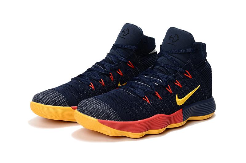 8530d9a0291b Nike Hyperdunk Youth Big Kid Basketball Shoes Dark Blue Yellow Orange