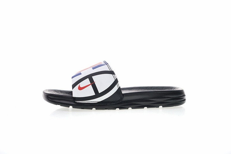 c8bc6eb834f Prev NBA x Nike Benassi SolarSoft Slide 2 Sandals Clippers Black White Red  ...