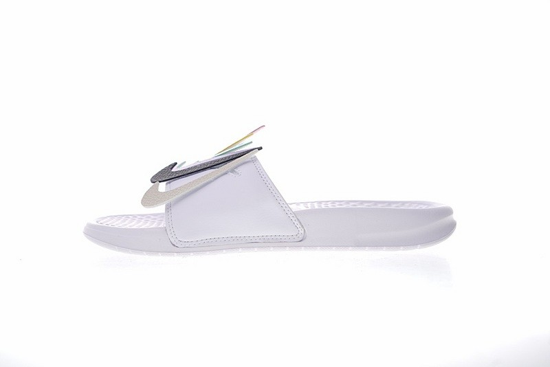 b736b03429d Nike Benassi JDI LTD Velcro QS Slides Swoosh Pack White AQ8614-100 ...