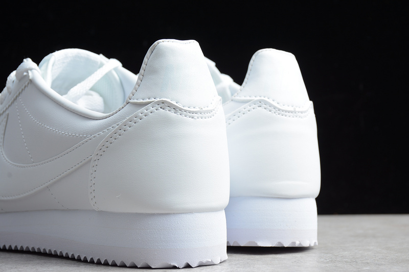 Nike CLASSIC CORTEZ Leather Casual Shoes All White 808471-102 - Febbuy 4d0445a04ea5