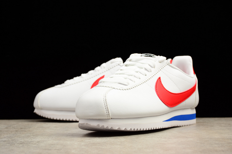 Nike CLASSIC CORTEZ Leather Casual Shoes White red 808471-103 - Febbuy a05806c48fbf