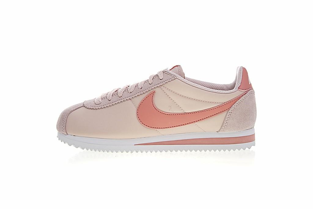 1e25e739dc74 ... sale prev nike classic cortez nylon pink white trainers sportswear  womens 540a2 5c1eb