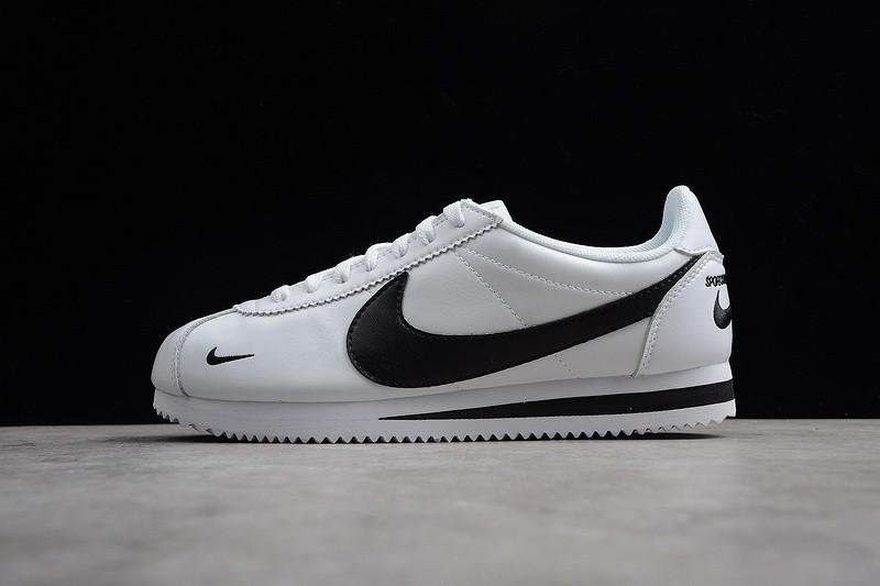 quality design afce0 57d6d Nike Classic Cortez Premium Mini Swoosh White Black 807480-008