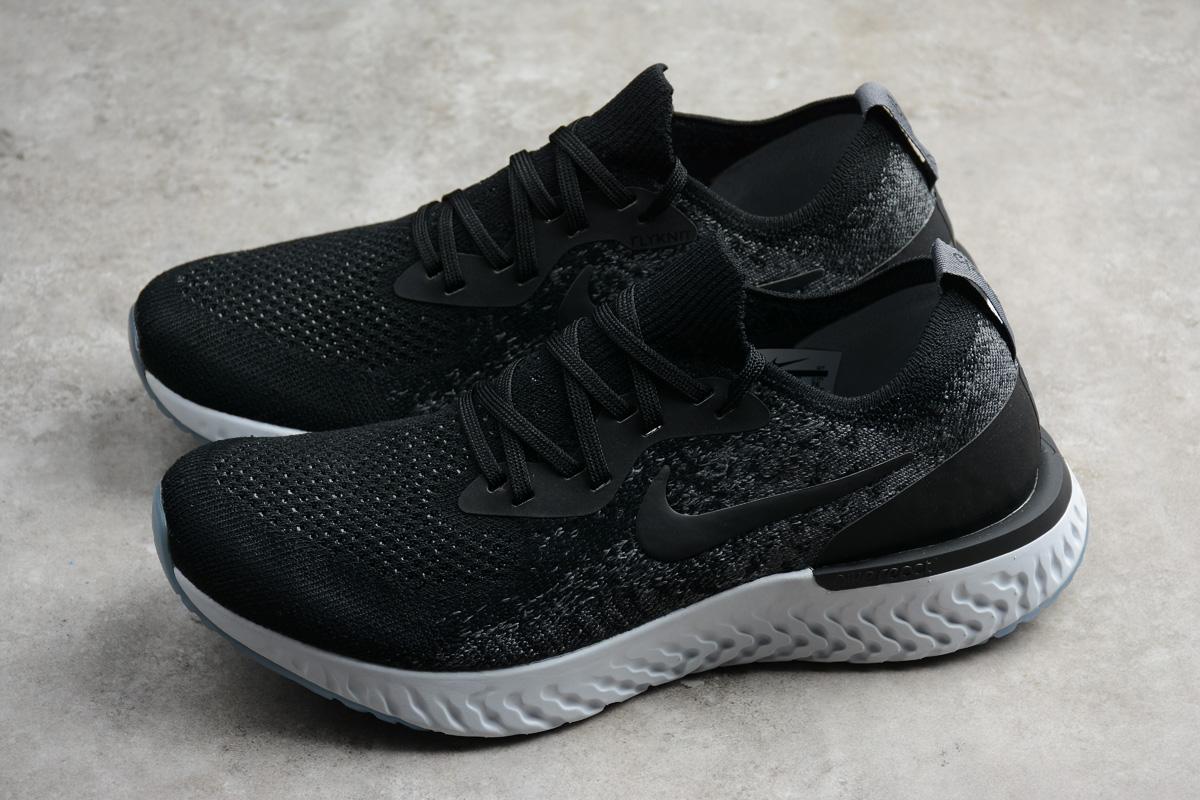 415aefcc44e4 Nike EPIC React Flyknit Running Shoes Black White AQ0067-001 - Febbuy