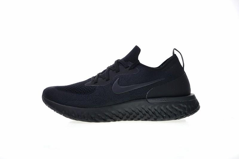 f3d923a9dd41d Prev Nike Epic React Flyknit Triple Black Running Shoes AQ0067-003. Zoom