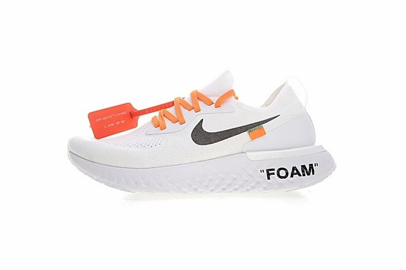 Prev Off White x Nike Epic React Flyknit Summit White Black Orange AQ0070-100.  Zoom 18682a91725e