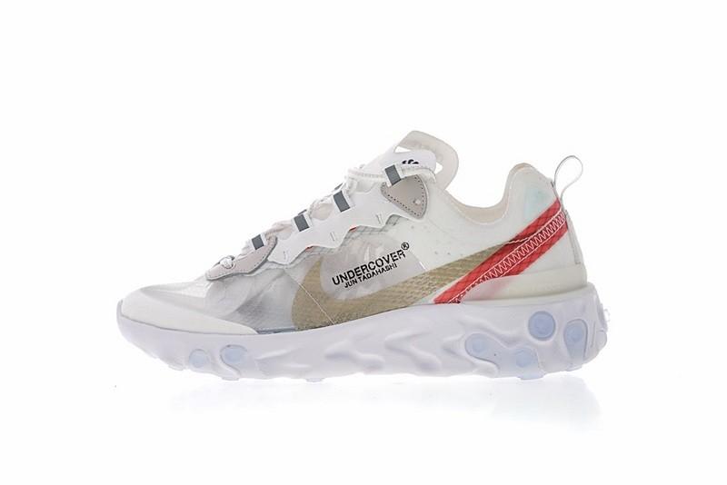 7057d7406482 Undercover x Nike React Element 87 White Cream Red AQ1813-345 - Febbuy