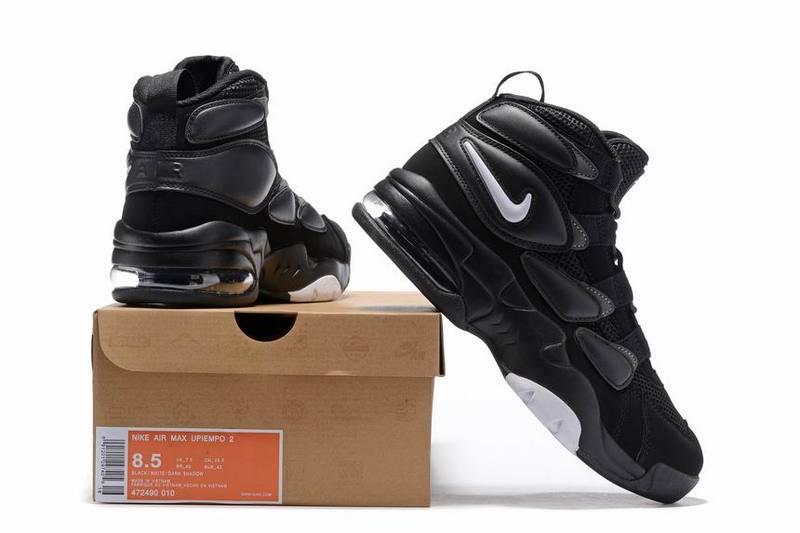Nike Air Max 2 Uptempo black white Men Basketball shoes 472490 010