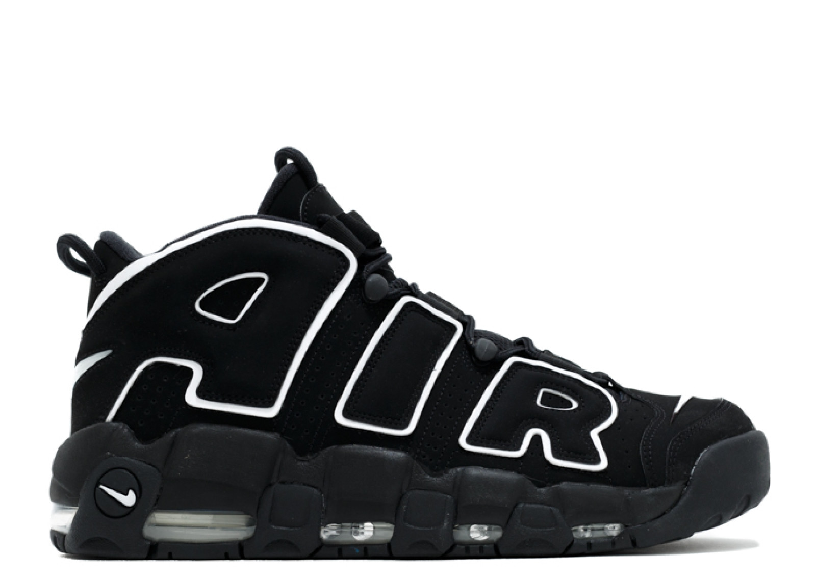 Nike Air Basketball: Nike Air More Uptempo Basketball Unisex Shoes Black White