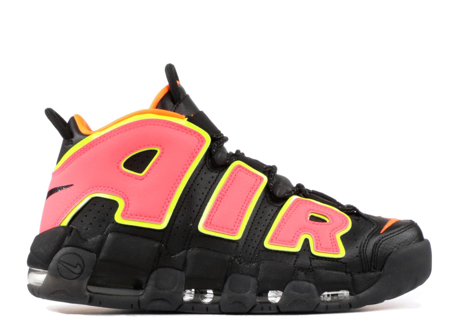 56cbe688050 Nike Air More Uptempo Pink Pinch Hot Black Volt 917593-002 - Febbuy