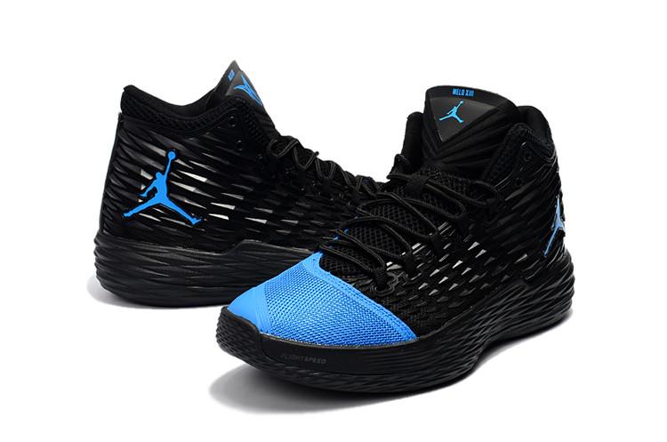 6127b0d77ec3 Nike Jordan Melo M13 XIII black blue Men Basketball Shoes - Febbuy