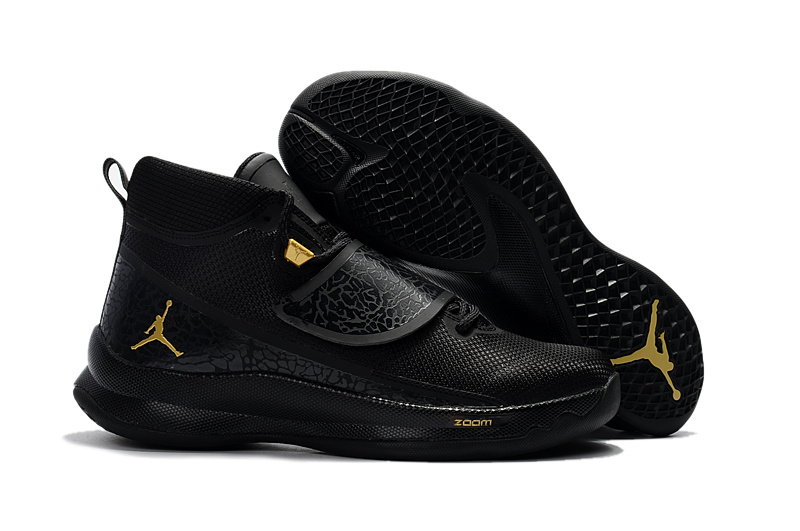 26a80b5ad17d9c Prev Nike Jordan Super Fly 5 PO X Griffin black metal gold black men  basketball shoes 914478. Zoom