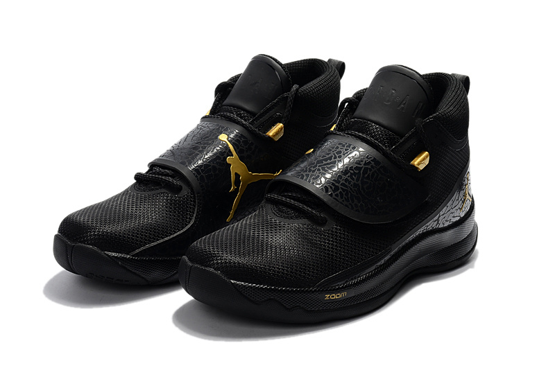 4a723656035 ... best nike jordan super fly 5 po x griffin black metal gold black men  basketball shoes