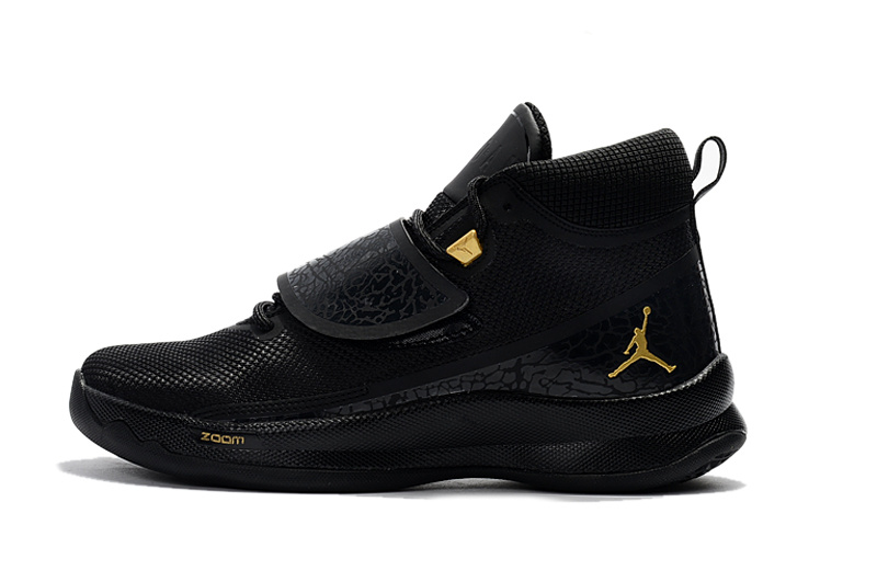 rencontrer b96da d1cae Nike Jordan Super Fly 5 PO X Griffin black metal gold black men basketball  shoes 914478-015