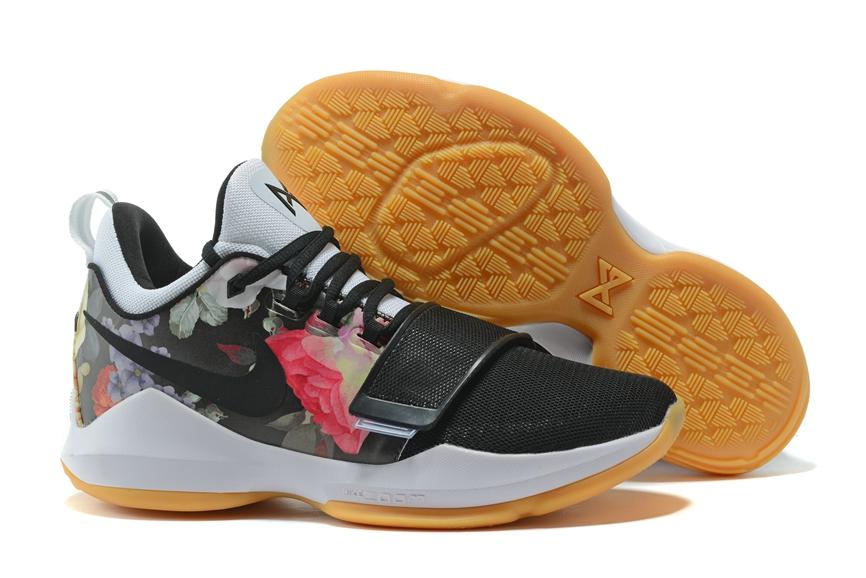 bf70d14e20c2 Prev Nike Zoom PG 1 Paul George Men Basketball Shoes Black Flower Brown  878628