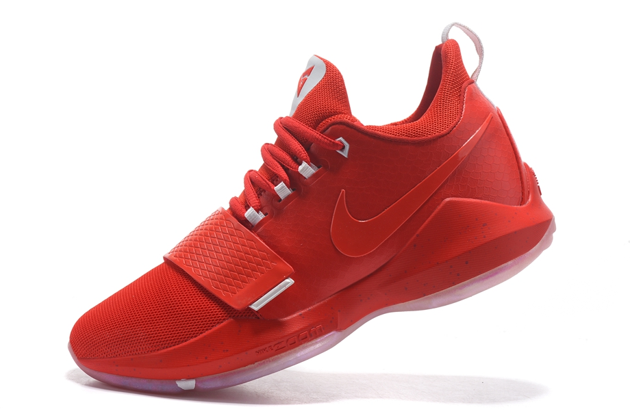 finest selection 20d13 0ed6e Nike Zoom PG 1 Paul George Men Basketball Shoes Chinese Red All ...