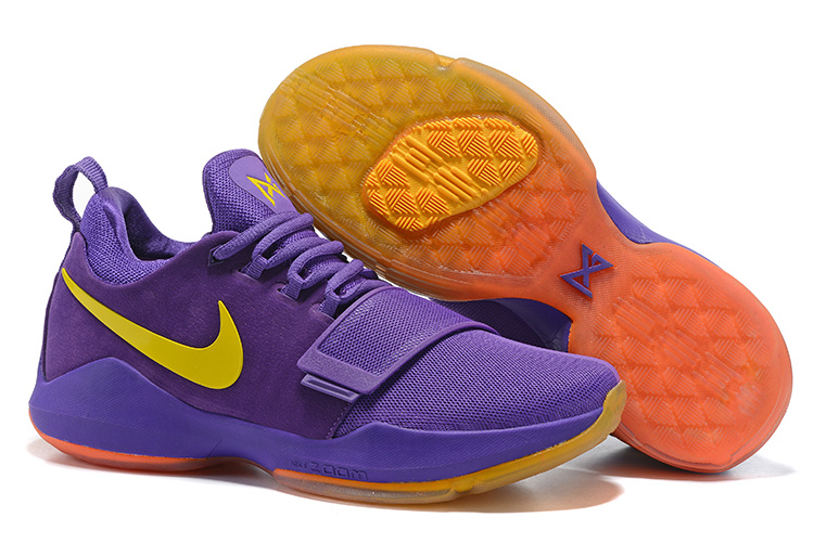 a7466fe4f3 Nike Zoom PG 1 The lakers purple Men Basketball Shoes 878628-007 - Febbuy