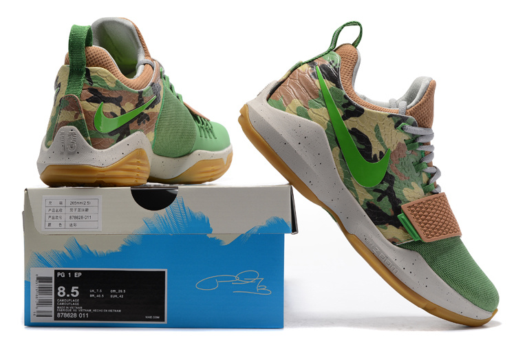 bca4355144e06 Nike Zoom PG 1 camouflage Men Basketball Shoes 878628-011 - Febbuy
