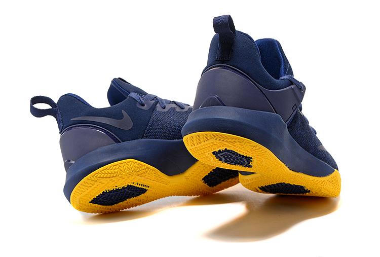 1871b30843b Nike Zoom Shift Men Basketball Shoes Deep Blue Yellow 897653 - Febbuy