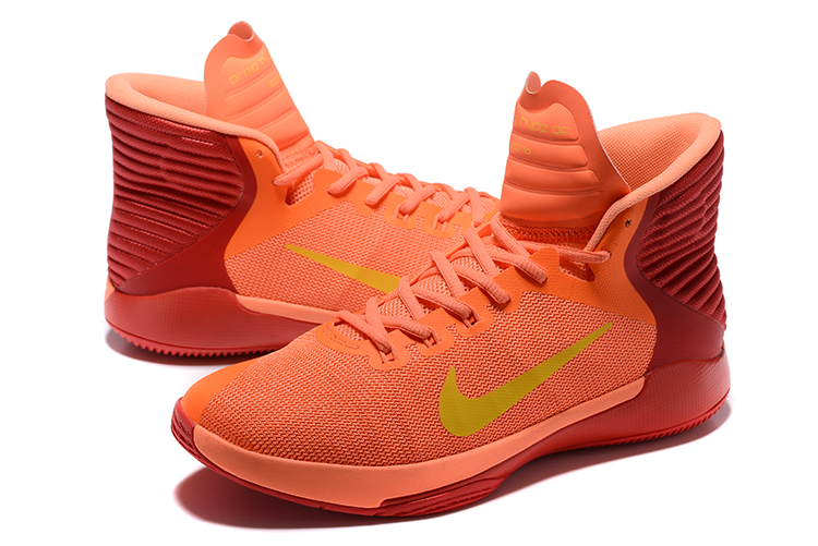 Nike Prime Hype DF 2016 EP Orange Red Yellow Mens Basketball Shoes 844788 80b8f8977