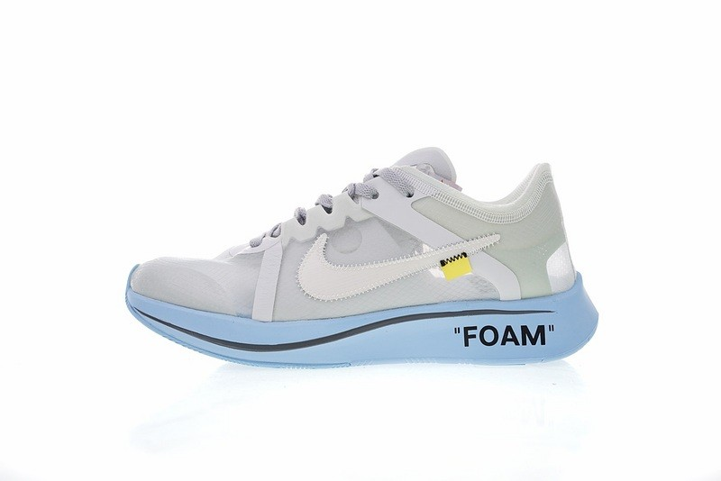 4c4272cae72 Off White x Nike Zoom Fly Summit White Light Blue AJ4588-001