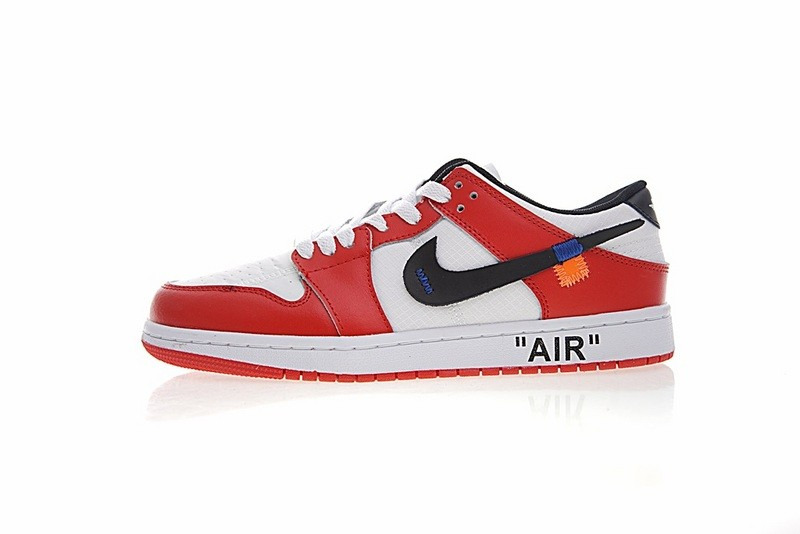 sports shoes acfd1 2eded Off White X Nike Nike Dunk Low Pro Sb Red White Blue Orange 332558-163