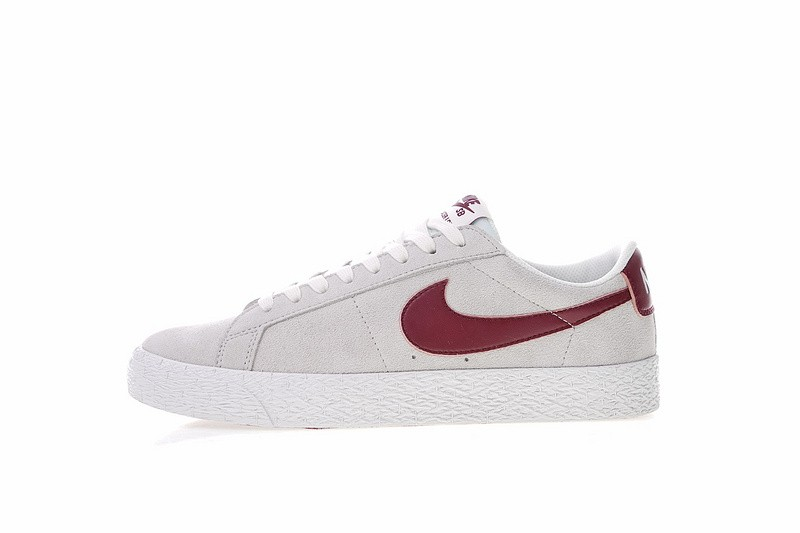crazy price latest design many styles Nike SB Zoom Blazer Low Summit White Dark Team Red 864347 ...