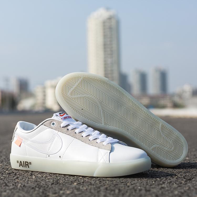 100% authentic af9b3 97ca0 Prev OFF WHITE X Nike Blazer Low SB Shoes White Grey. Zoom