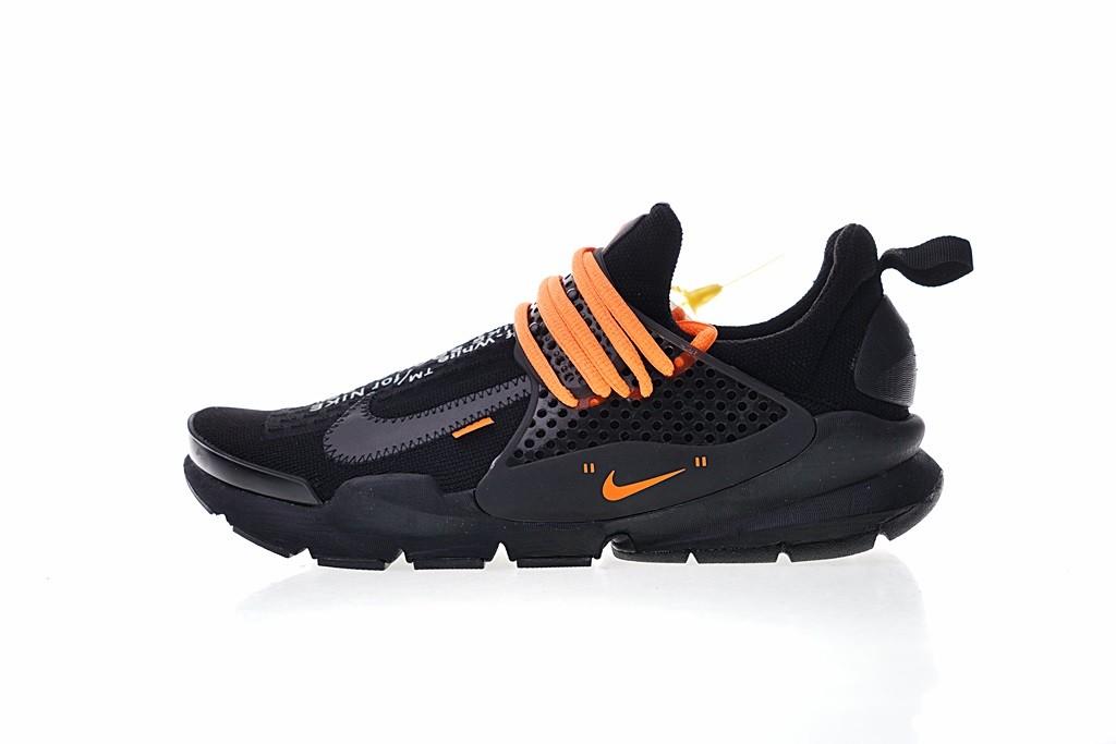 factory price 5f4a0 9fdff Prev Off White x Nike La Nike Sock Dart Black Orange ...
