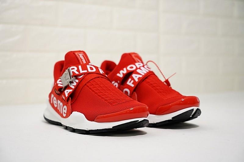 7e93d5979f1 ... Supreme x Nike Sock Dart University Red White Lifestyle Shoes 819686-002  ...