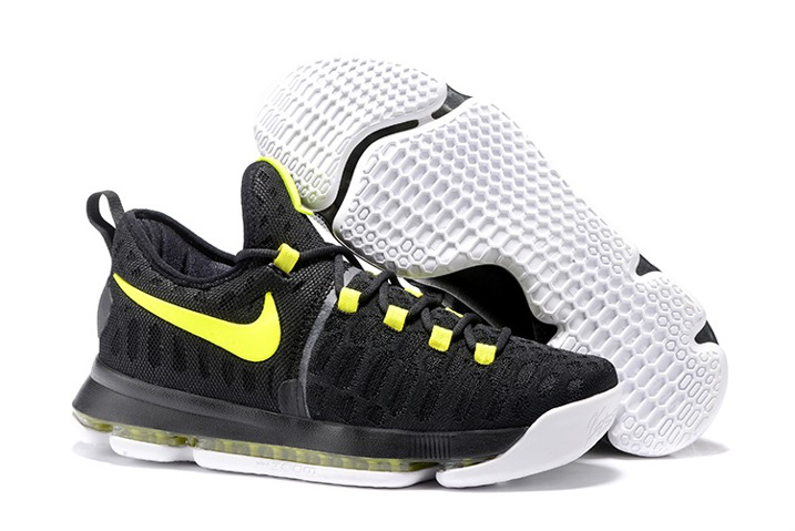 new concept 9b996 a5f0d Prev Nike KD 9 Kevin Durant Men Basketball Shoes Sneakers Black Flu Green  843392. Zoom