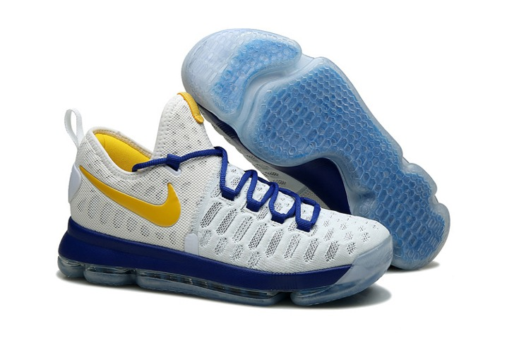 8bee5f67b69c Prev Nike KD 9 Kevin Durant Men Basketball Shoes White Blue Yellow 843392.  Zoom