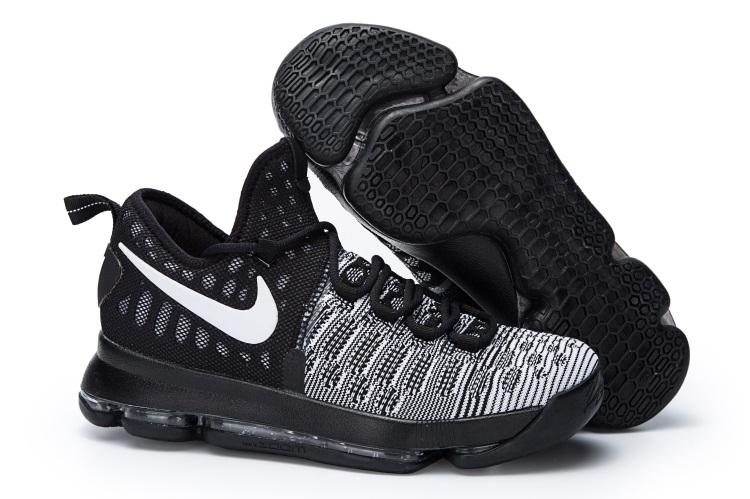 Nike KD 9 Mic Drop Men Basketball Sneakers Shoes Black White Ready ... 4ad1c5b67f