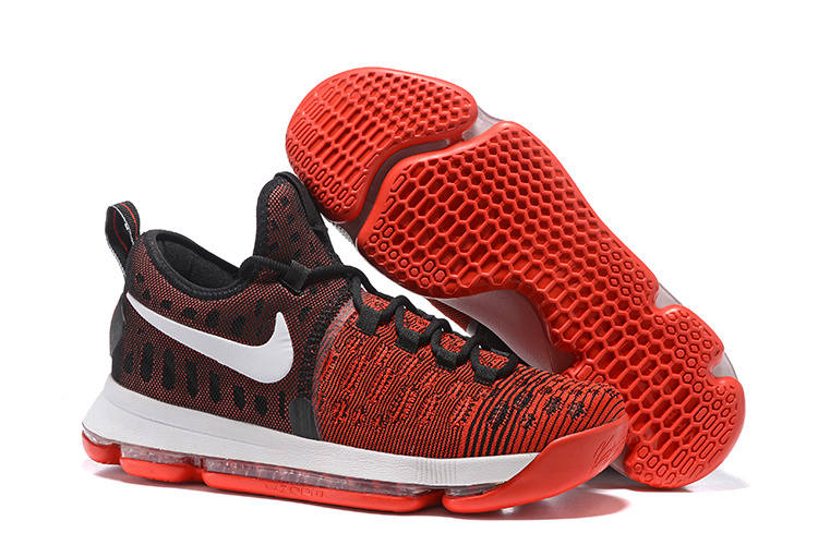 c4f3857ed3b Nike Zoom KD 9 EP IX Kevin Durant Hard Work Red Black Mens Basketball Shoes  844382-610