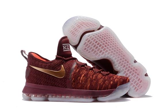 c2e1e808d8d1 Prev Nike Zoom KD IX 9 EP Christmas Marroon Golden Men Shoes. Zoom