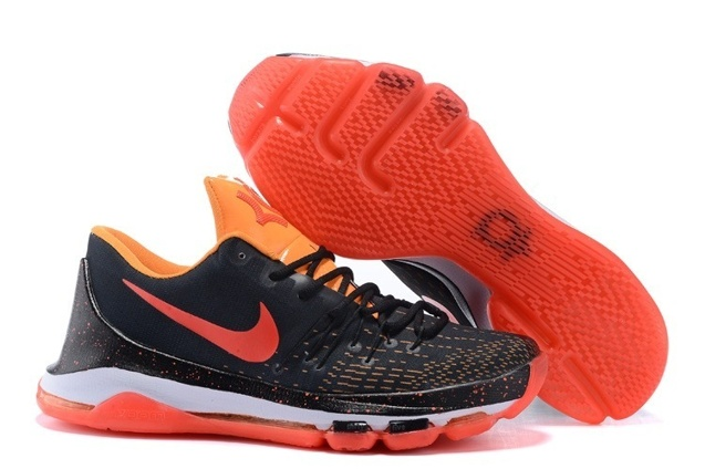 newest 63ed8 61feb Prev Nike KD 8 Kevin Durant Men Basketball Sneakers Black Red Orange 749375-803.  Zoom