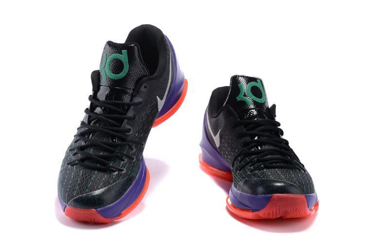 Nike KD 8 VIII Black White Green Shock Hyper Orange 749375-013 - Febbuy ebca7ed5e