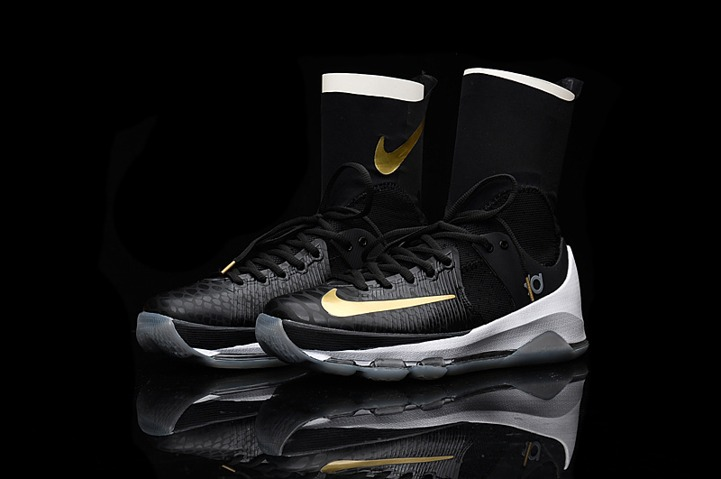 low cost 5fdab bd68d ... official store nike kd 8 elite away viii men basketball shoes high black  gold edition 834185