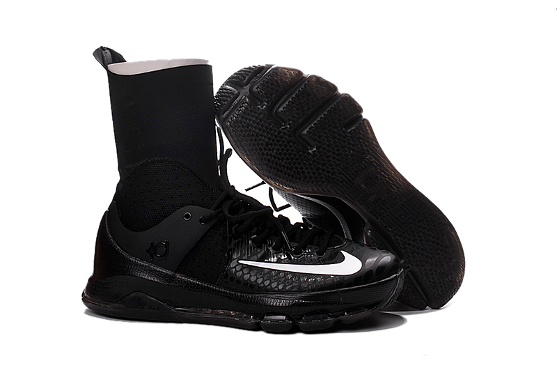 8506c9900ad3 Prev Nike Zoom KD 8 Elite Away VIII Men Basketball Shoes Boots High Black  White Edition 834185. Zoom
