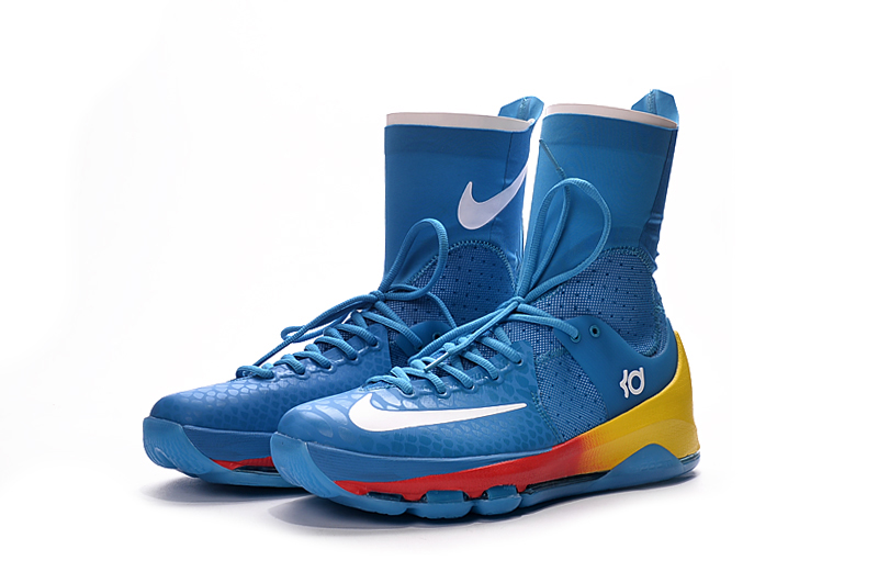df0a5b14fee5 ... closeout nike zoom kd 8 elite away viii men basketball shoes boots high  blue orange crimson