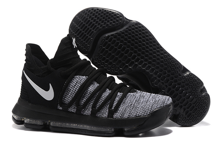 fe25bf907e44 Nike Zoom KD X 10 Grey Black White Men Basketball Shoes - Febbuy