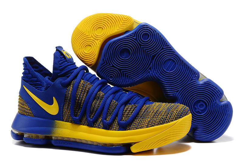 brand new b11dd 5dba4 Prev Nike Zoom KD X 10 Men Basketball Shoe Royal Blue Yellow. Zoom