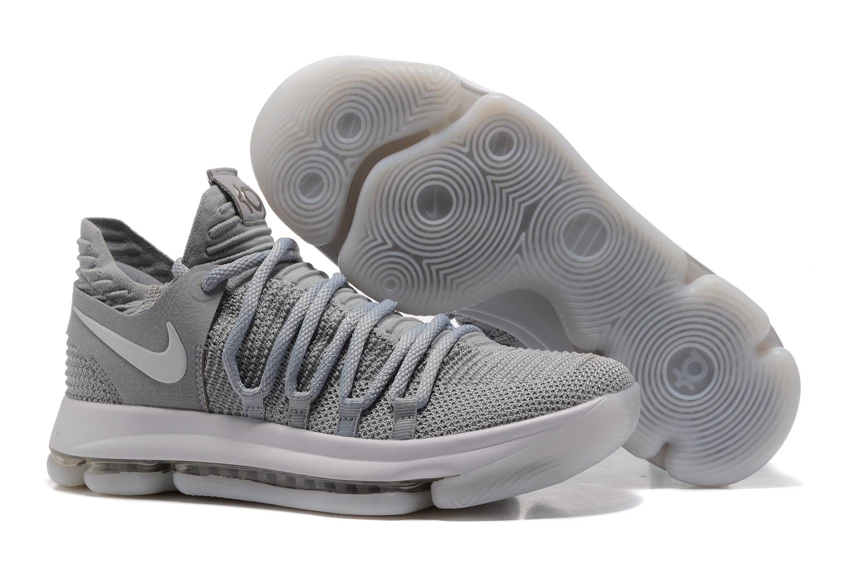 868b8a210426 Prev Nike Zoom KD X 10 Men Basketball Shoes Light Grey White. Zoom