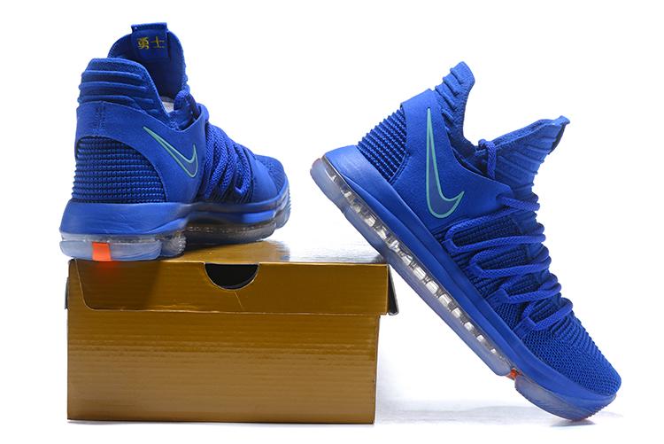 5b0c986b4847 Nike Zoom KD X 10 Men Basketball Shoes Royal Blue Orange New - Febbuy