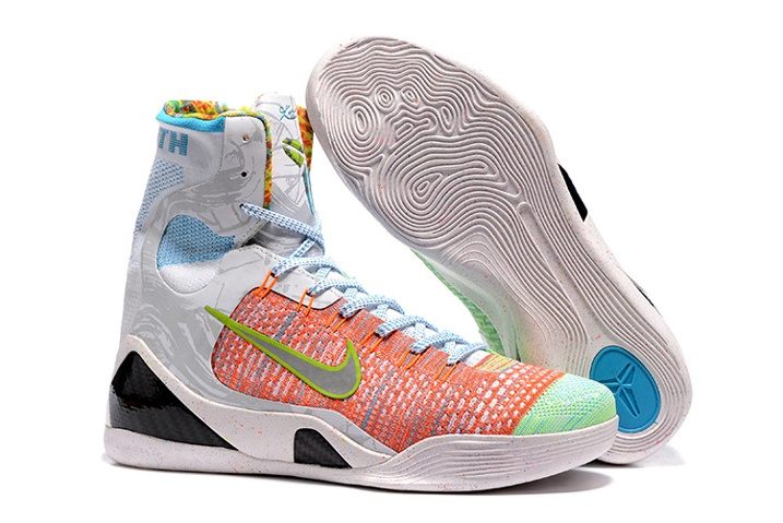 268f32262840 Nike Kobe 9 IX Elite High What The Premium Influence Orange Blue ...