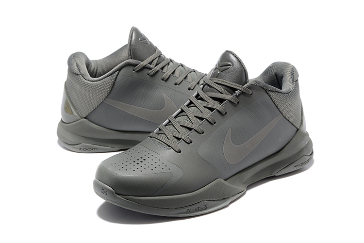 22dde0448e8e Nike Zoom Kobe V 5 Low FTB Fade To Black Grey Men Basketball Shoes 869454-