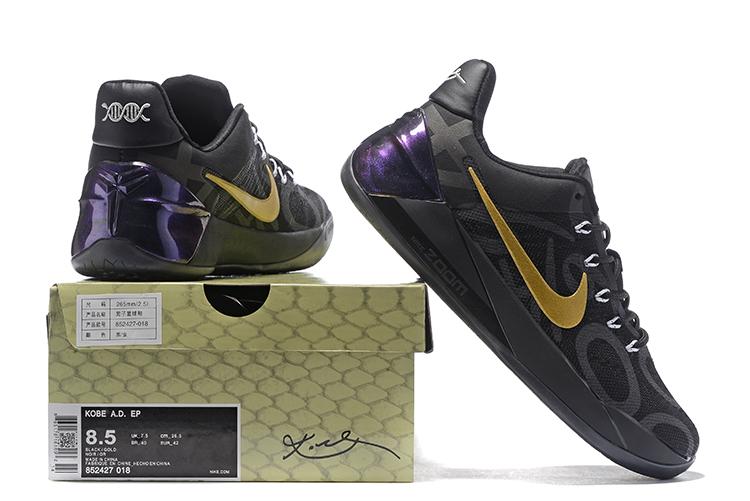 25b98e8a936b Nike Zoom Kobe AD EP Black Golden Men Shoes - Febbuy